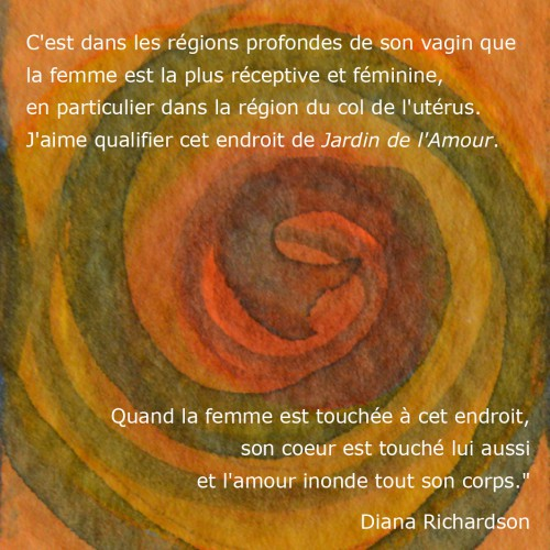 Spirale orange + citation de Slow Sex